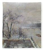 Pissarro: Louvre, 1902 Fleece Blanket