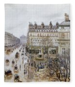 Pissarro: Theatre Francais Fleece Blanket