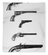 Pistols And Revolvers Fleece Blanket