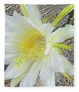 Pitaya Flower Fleece Blanket