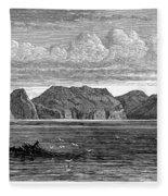 Pitcairn Island, 1879 Fleece Blanket