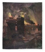 Pittsburgh: Furnaces, 1885 Fleece Blanket