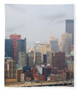 Pittsburgh Skyline Fleece Blanket