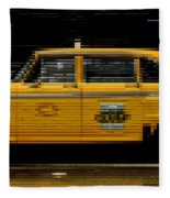 Pixel Taxi Fleece Blanket