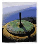 Place Time Dimension Fleece Blanket