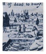 Plague, 1665 Fleece Blanket