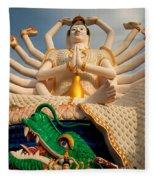 Plai Laem Buddha Fleece Blanket