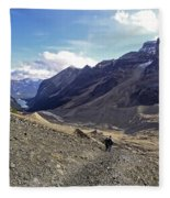 Plain Of Six Glaciers Trail - Lake Louise Canada Fleece Blanket