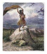 Plains Native American: Signal, 1873 Fleece Blanket