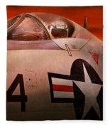 Plane - Pilot - Airforce - Go Get Em Tiger  Fleece Blanket