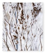 Plants In Winter Fleece Blanket