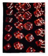 Playing Dice Being Rolled Fleece Blanket