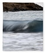 playing with waves 1 - A beautiful image of a wave rolling in noth coast of Menorca Fleece Blanket