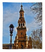 Plaza De Espana - Sevilla Fleece Blanket