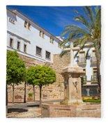 Plaza De La Iglesia In Marbella Fleece Blanket