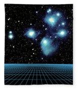 Pleiades In Taurus Fleece Blanket