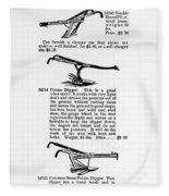 Plow Advertisement, C1890 Fleece Blanket