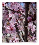 Plum Blossoms 6 Fleece Blanket