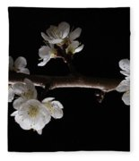 Plum Tree Spring Blossum Fleece Blanket