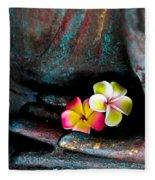 Plumeria Flowers Fleece Blanket
