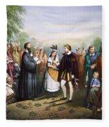 Pocahontas & John Rolfe Fleece Blanket