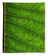 Poinsettia Leaf IIi Fleece Blanket