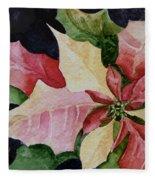 Poinsettia Fleece Blanket