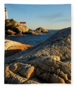 Point Atchison Lighthouse 1 Fleece Blanket