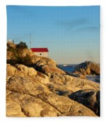 Point Atchison Lighthouse 2 Fleece Blanket
