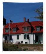 Point Betsie Light Station Fleece Blanket