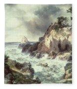 Point Lobos At Monterey In California Fleece Blanket