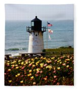 Point Montara Lighthouse Vista Fleece Blanket