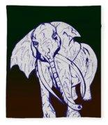 Pointillism Elephant Fleece Blanket