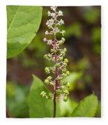 Poke Sallet Blossom Spire - Phytolacca Acinosa  Fleece Blanket