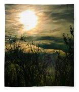 Polarized Sunset Fleece Blanket