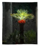 Pompeii Palm Tree Italy Fleece Blanket