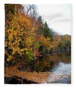 Pond On Limekiln Road II Fleece Blanket