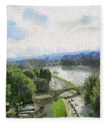 Pont De St Benezet - Avignon Fleece Blanket