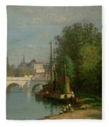 Pont Du Carrousel Fleece Blanket
