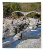 Ponte Dei Salti - Lavertezzo Fleece Blanket