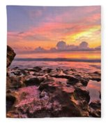 Pool Clouds Fleece Blanket