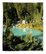 Pool In The Forest Fleece Blanket