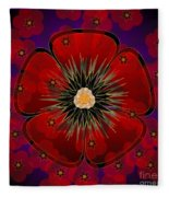 Poppies 2012 Fleece Blanket