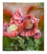 Poppies Big And Bold Fleece Blanket