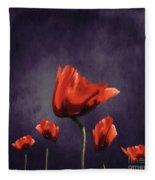 Poppies Fun 02b Fleece Blanket