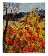 Poppies In Provence 456321 Fleece Blanket