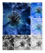Poppy Blue - Macro Flowers Fine Art Photography Fleece Blanket