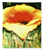 Poppy Cup Of Gold  Fleece Blanket