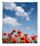 Poppy Flowers 04 Fleece Blanket