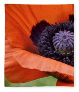 Poppy For Peace Fleece Blanket